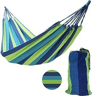 winemana Outdoor Garden 2 Person Cotton Hammock, 450lbs Ultralight Camping Hammock (Blue)