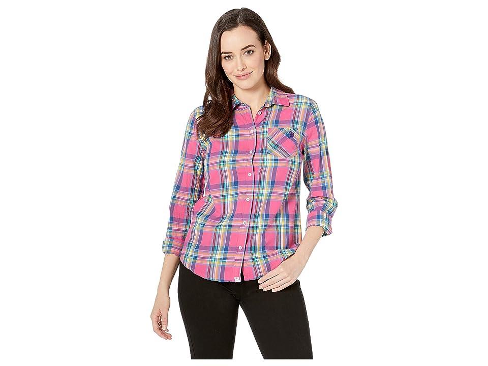 U.S. POLO ASSN. Plaid Woven Shirt (Shocking Poppy) Women