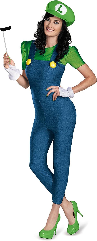 Disguise Women's Nintendo Super Max 48% OFF Ranking TOP4 Mario Female Deluxe Bros.Luigi C