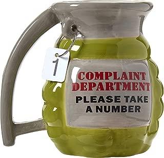 Complaint Department Hand Grenade Shaped 14 Ounce Ceramic Coffee Mug