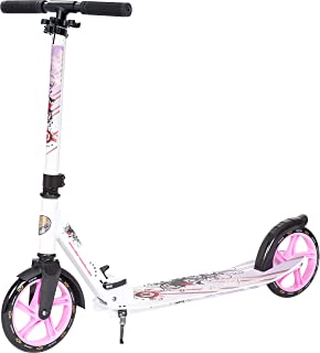 Star-Scooter Patinete Patineta Scooter Plegable XXL para ni