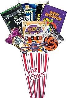 Halloween Movie Night Popcorn and Candy Gift Basket Plus Free Redbox Movie Rental Code Gift Card (Halloween Popcorn Gift - Individual)