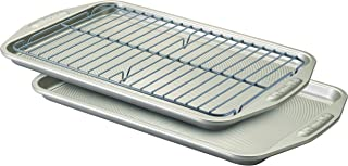 Circulon 57091 Total Nonstick Bakeware Set / Baking Pans - 3 Piece, Gray