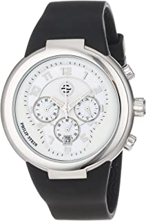Unisex 32-AW-RBB Active White and Black Chronograph Rubber Strap Watch
