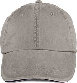 Anvil Solid Low Profile Sandwich Trim Pigment Dyed Twill Cap (Taupe) (One)