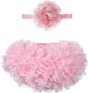 Newborn Ruffle Diaper Covers Baby Girls Tulle Bloomer Headband Set 0-24 Months