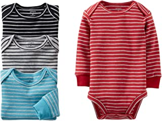 4 Pack Striped Bodysuits (Baby) - Assorted-3 Months