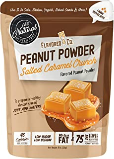 Flavored PB Co. Salted Caramel Peanut Butter Powder, Low Carb and Only 45 Calories, All-Natural from US Farms (8 oz.)