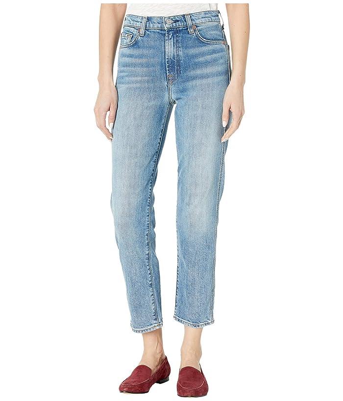 7 For All Mankind  High-Waist Cropped Straight in Retro Ventura Blvd (Retro Ventura Blvd) Womens Jeans