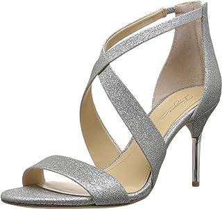 Imagine Vince Camuto Women's Pascal Heeled Sandal, Platinum, 5 Medium US