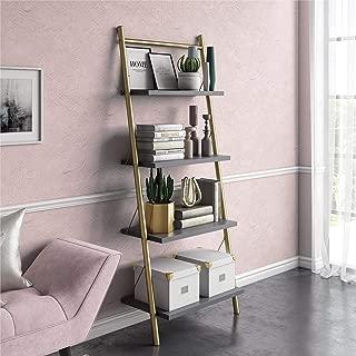 Nova 4 Shelf Ladder Bookcase, Graphite Gray