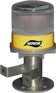 Aervoe 1198 Solar Strobe Signal Light, Yellow