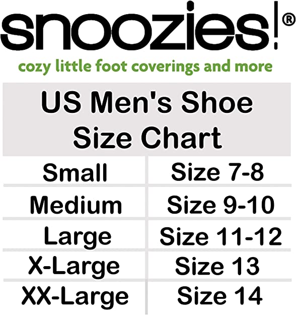 Men/'s Snoozies Two Tone Sherpa Fleece Lined Slipper Foot Coverings