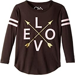 Chaser Kids - Long Sleeve Super Soft Love Arrows Tee (Toddler/Little Kids)