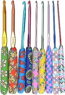 9pcs Crochet tricot, poignées ergonomiques aiguilles bricolage artisanat kit de crochet ergonomique poignée souple poignée...