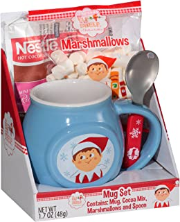 Elf on the Shelf Mug Set with Hot Cocoa, Marshmallows, Mug and Spoon