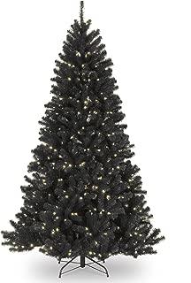 black pre lit tree