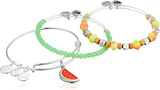 Alex and Ani Womens Color Infusion One in a Melon Bracelet Set of 3