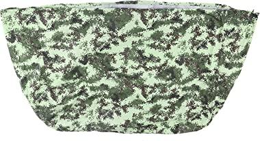 Wosune Camouflage Barbecue Oven Cover, Easy to Sunlight Protection Adjustable Elastic Hem Rope BBQ Grill Cover for Courtyard