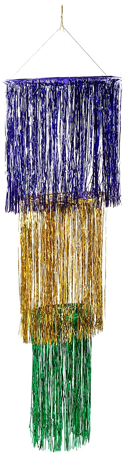 3-Tier Shimmering Chandelier (gold, green, purple (1-Ply) Party Accessory  (1 count) (1/Pkg)