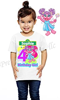 Abby Cadabby Birthday Shirt, Add Any Name and Age, Family Matching Shirts, Abby Cadabby Shirt Party Favor, Sesame Street, Visit Our Shop