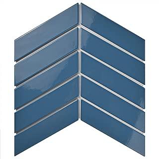 SomerTile FMTSHCGC Retro Soho Chevron Porcelain Floor and Wall Tile, 1.75