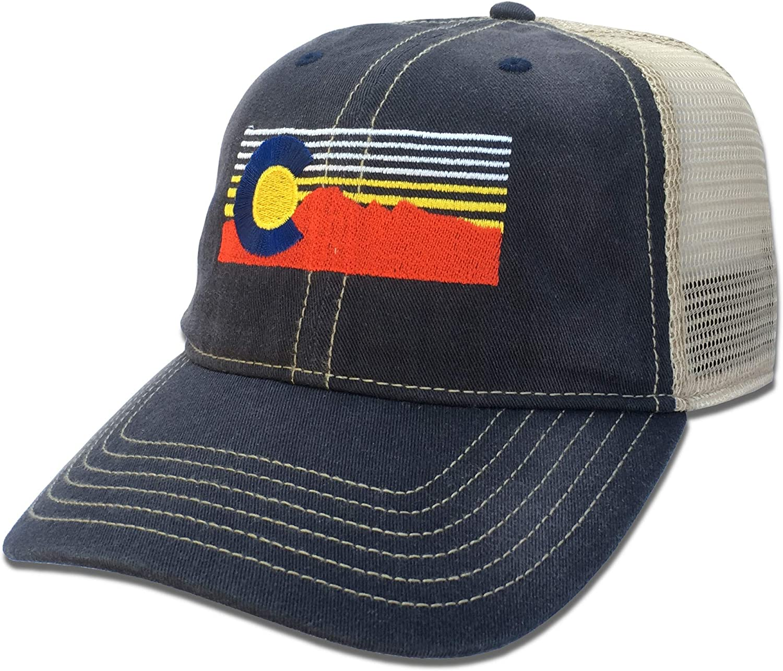 Unisex Colorado Flag on Washed Cotton Baseball Cap