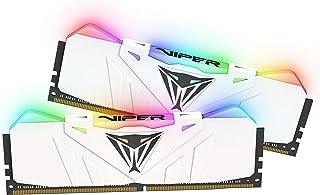 Patriot Viper Gaming RGB Series DDR4 DRAM 2666MHz 16GB Kit - White - RGB Color Profiles
