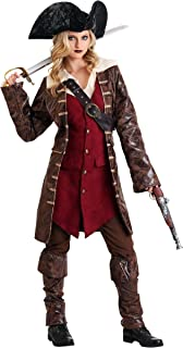 Size Large Rustic Pirate Lady Costume Deluxe Womens Female Buccaneer