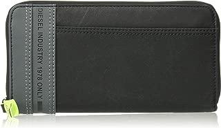 (ディーゼル) DIESEL メンズ ウォレット ミックスマテリアル ラウンドジップ 長財布 X06477P2677