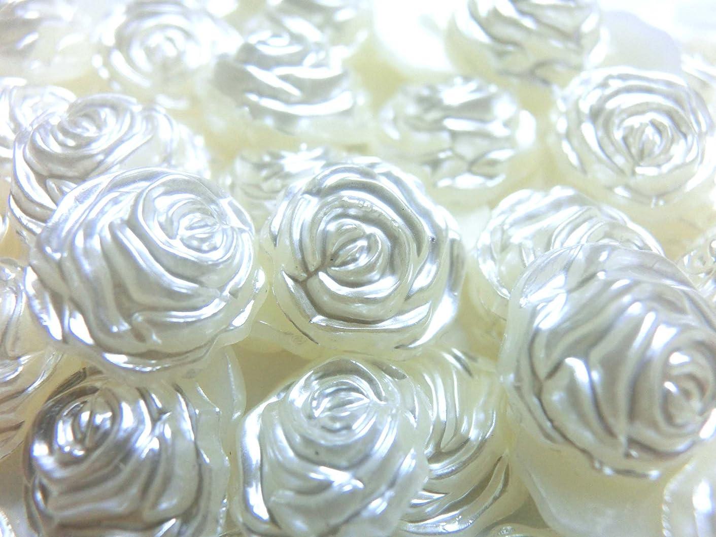 側面砂のためらう【ラインストーン77】超高級 パールストーン アイボリーホワイト (バラ 12mm 約5粒)