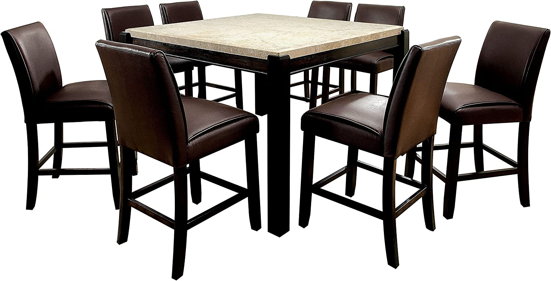 247SHOPATHOME dining-room-sets 9-Piece Dark Cheap super special price Max 54% OFF Walnut