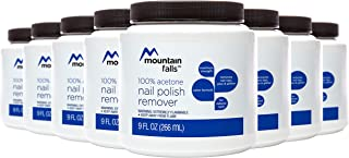 Mountain Falls 100% Acetone Dip-It Nail Polish Remover for Natural Nails, Maximum Strength, 9 Fluid Ounce (Pack of 8)