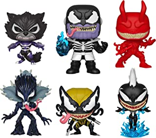 Funko Pop!: Bundle of 6: Venom - Daredevil, Rocket Raccoon, Storm, X-23, Groot, and Thanos
