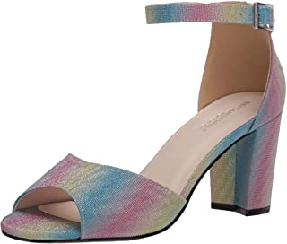 Touch Ups womens Amaya Heeled Sandal, Rainbow, 7 US