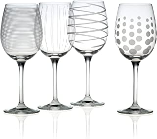 Mikasa Cheers Precision-Etched 16-oz White Wine Glasses, (Set of 4) - SW910-403