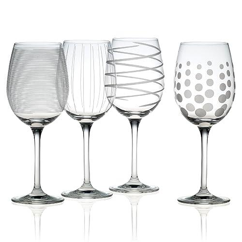 91e32391e4a Mikasa Cheers Precision-Etched 16-oz White Wine Glasses