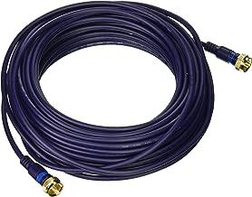 C2G 29123 Velocity Mini-Coax F-Type Cable, Blue (50 Feet, 15.24 Meters)