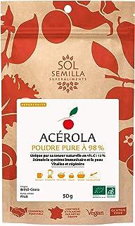Acerola Bio - Acerola cruda - pura 98% - Vitamina C natural | 50g Polvo