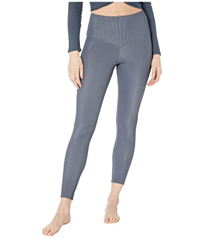 Onzie Sweetheart Midi Leggings (Slate Gray Rib) Women