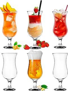 Platinux Verres à cocktail 400ml (max. 470ml) en verre Set (6 pièces) Verres à long drink Verres de fête Verres à milk-sha...