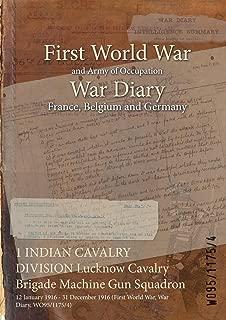 1 INDIAN CAVALRY DIVISION Lucknow Cavalry Brigade Machine Gun Squadron : 12 January 1916 - 31 December 1916 (First World War, War Diary, WO95/1175/4)