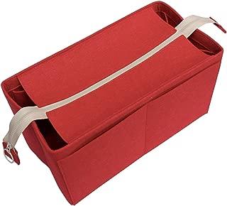 [Fits Mul.berry Bags] Felt Tote Organizer (w/Top Zipper), Bag in Bag, Wool Purse Insert, Customized Tote Organize, Cosmetic Makeup Diaper Handbag
