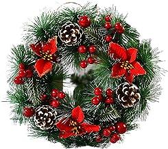 oshhni Simulação Grinalda de Natal Coroas de acessórios Acessórios Suspensão de porta Adereços de janela Decoração de Nata...
