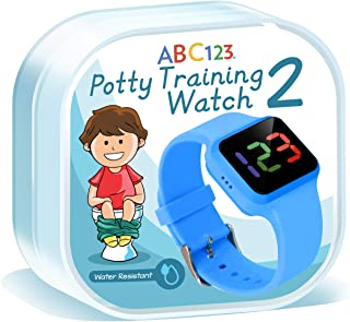 ABC123 Potty Training Watch 2- Baby Reminder Water Resistant Timer for Toilet Training Kids & Toddler (Blue)