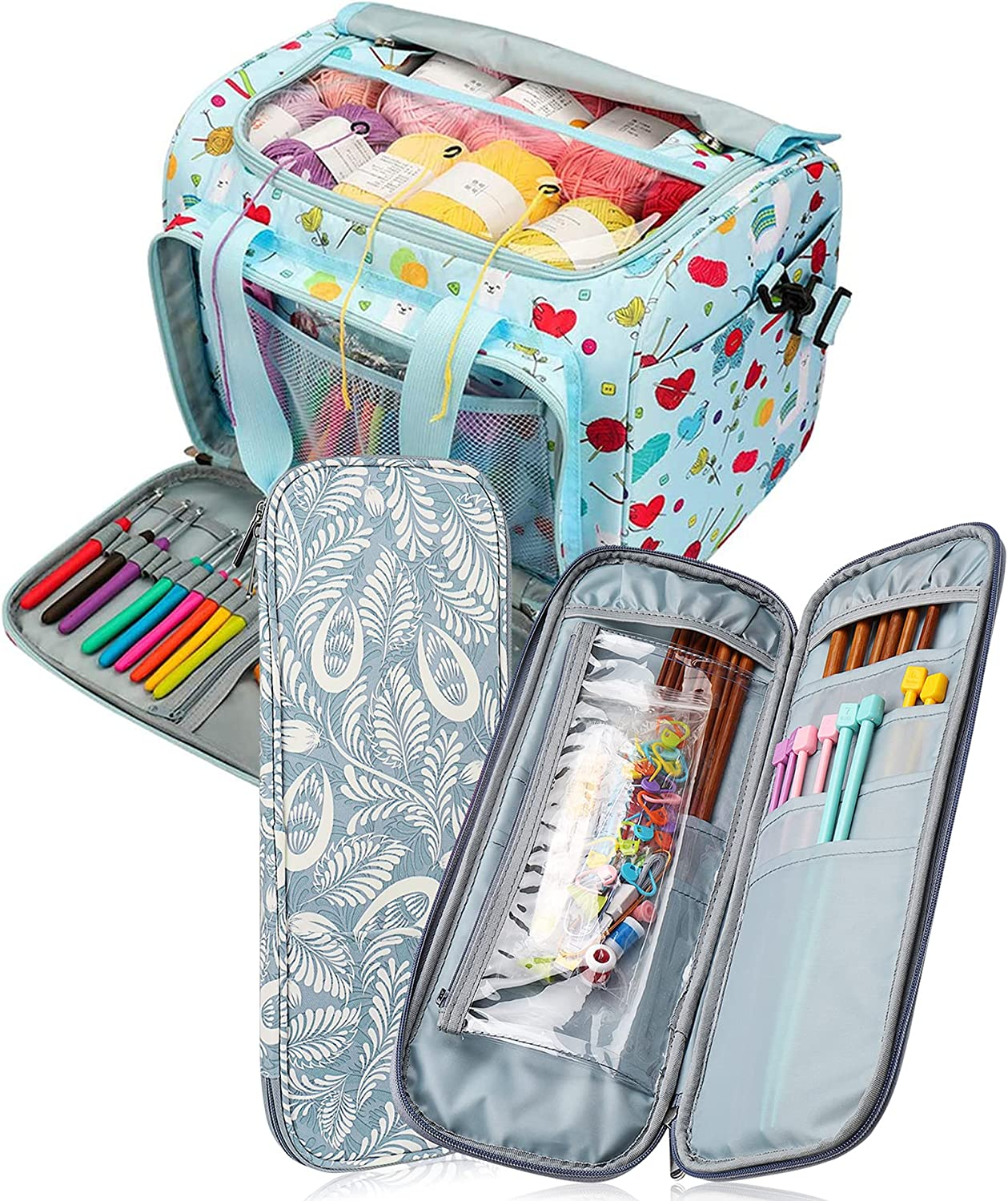 Coopay Knitting Needle Case Outlet sale feature Yarn Price reduction Travel S Bag Totes Organizer
