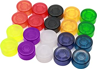 Timiy Colorful Plastic Protection Cap Kit for Electric Guitar Pedal Effectfor Pack of 20Pcs