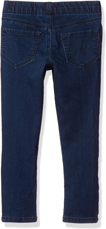 4t, Navy OshKosh Little Girls Super Skinny French Terry Knit Sparkle Jeggings