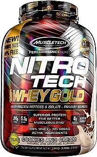 MuscleTeach Performance Series Nitro Tech 100% Whey Gold Bonus Cookies and Cream 5.51lbs (2.5kg) US
