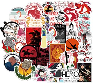 SEBADA 50Pcs Mulan Stickers for Laptop Motorcycle Bicycle Skateboard Luggage Decal Graffiti Patches[No-Duplicate Sticker P...